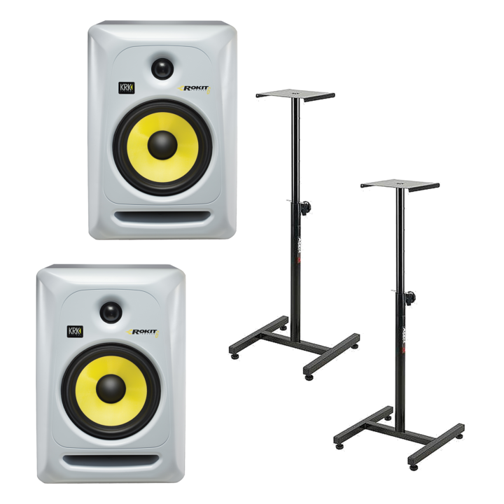 KRK RP6 G3 WH para + statywy 1